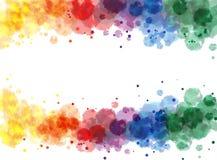 [Omgezette] het waterkleur van de regenboog Royalty-vrije Stock Foto's
