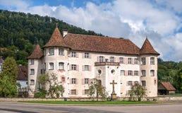 Omgiven med vallgrav slott Glatt, Tyskland Arkivbilder