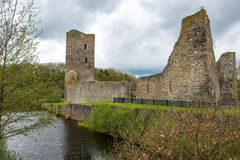 Omgiven med vallgrav slott, Wasserburg Baldenau, Tyskland Royaltyfria Foton