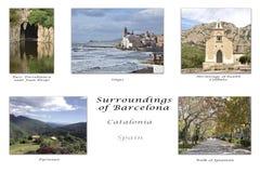 Omgivning av Barcelona Arkivbild