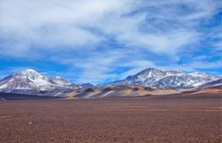Omgivning av Laguna Verde i Chile Arkivfoto