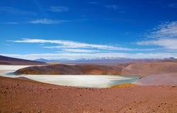 Omgivning av Laguna Verde i Chile Royaltyfria Foton