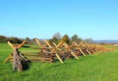 Omheining bij gettysburg stock afbeelding
