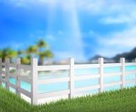 Omheining And Blur Nature van Achtergrond stock afbeeldingen