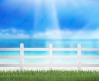 Omheining And Blur Nature van Achtergrond stock afbeelding