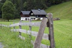 Omheining in de Alpen Royalty-vrije Stock Fotografie