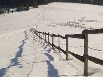 Omheining - de winter Stock Afbeeldingen