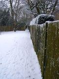 Omheining in de winter Stock Foto's