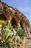 Omheining die door Gaudi wordt gemaakt Stock Foto