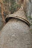 Omheining die door slank bamboe voor visserij wordt gemaakt Stock Fotografie