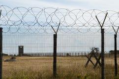 Omheining en wachttoren bij Robben-Eiland Royalty-vrije Stock Fotografie