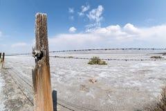 Omheining langs playa Royalty-vrije Stock Afbeelding
