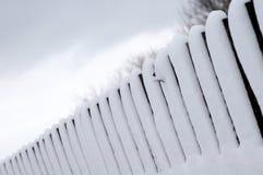 Omheining met de sneeuw Royalty-vrije Stock Fotografie