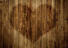 Omheining met hart Royalty-vrije Stock Foto