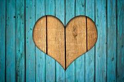 Omheining met hart Royalty-vrije Stock Afbeelding