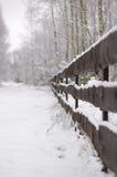 Omheining onder sneeuw Royalty-vrije Stock Afbeelding
