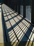 Omheining op de brug Stock Foto's