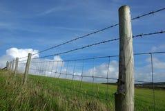 Omheining in platteland Royalty-vrije Stock Foto