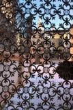 Omheining - Scaliger-Graven in Verona Italy stock foto's