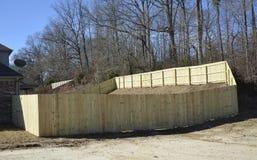 Omheining van Cedar Wood stock foto's