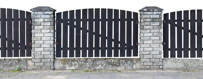 Omheining van donkere houten raad voor Halloween-collagen Stock Afbeeldingen