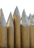 Omheining van gescherpte gerichte logboeken wordt gemaakt dat Stock Fotografie