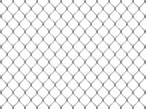 Omheining van zilveren netwerk Stock Fotografie
