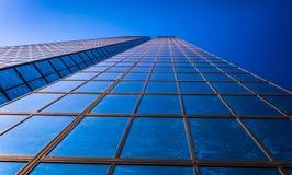 Omhoog bekijkend in John Hancock Building, in Boston, Massachusett royalty-vrije stock foto
