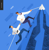 Omhoog beklimmend, bedrijfsconcept Royalty-vrije Stock Afbeeldingen