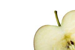 Omhoog dichte appel. Royalty-vrije Stock Afbeeldingen