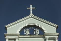Omhoog dichte Milagreskerk van buiten Mangalore, Karnataka, India Royalty-vrije Stock Foto