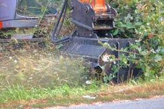 Omhoog Dichte vegetatie Scherpe Machines Royalty-vrije Stock Fotografie