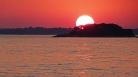 Omhoog dichte zonsondergang Royalty-vrije Stock Afbeeldingen