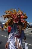 Omhoog gekleed tijdens Vrolijk Festival Stock Fotografie