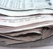 Omhoog gestapelde krant - Stock Afbeeldingen