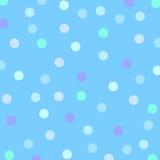 Omhoog gestippeld in Blauw Stock Foto