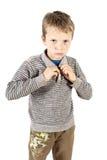Omhoog het kleden van jongen Stock Foto's