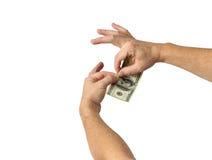 Omhoog het scheuren van Geld Stock Foto's