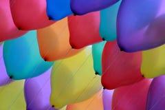Omhoog hoge partijballons stock afbeelding