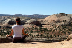 Omhoog-hoge yoga Royalty-vrije Stock Foto