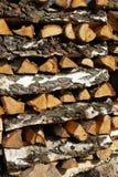 Omhoog-met een laag bedekt hout royalty-vrije stock foto