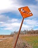 Omhoog ontsproten het teken van het gevaar Stock Foto