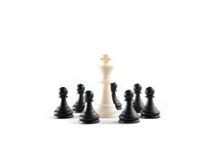 Omhoog Rond gemaakte de Koning van het schaak Royalty-vrije Stock Afbeeldingen