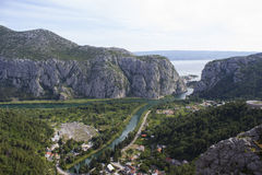 Omiš Canyons Royalty Free Stock Images