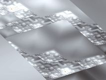 αφηρημένο γκρίζο τετράγων&omic Στοκ φωτογραφία με δικαίωμα ελεύθερης χρήσης