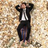 επιχειρηματίας ξένοιαστ&omic Στοκ εικόνες με δικαίωμα ελεύθερης χρήσης