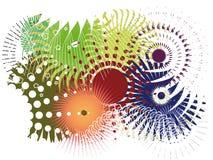 κυκλικά στοιχεία σχεδί&omic Στοκ φωτογραφία με δικαίωμα ελεύθερης χρήσης