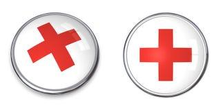 διαγώνιο κόκκινο σύμβολ&omic Στοκ εικόνα με δικαίωμα ελεύθερης χρήσης