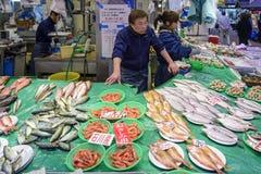 Omicho市场在今池,日本 免版税库存照片