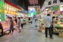 Famous Omicho local market Kanazawa Japan  Royalty Free Stock Photos
